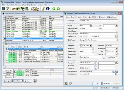 Adressverwaltungssystem 2.3.1b screenshot