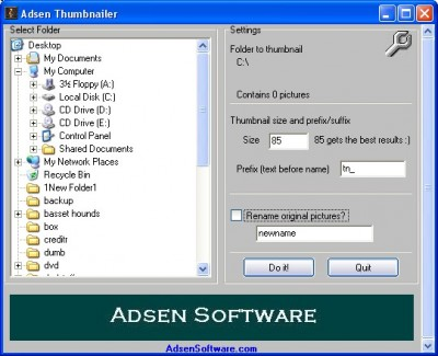 Adsen Thumbnailer 1.25 screenshot