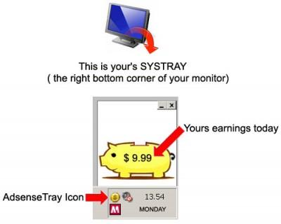 AdsenseTray 1.1 screenshot