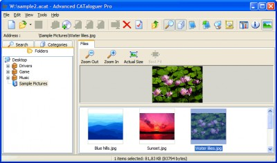 Advanced CATaloguer Pro 2.6 screenshot