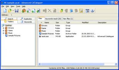 Advanced CATaloguer 2.6 screenshot