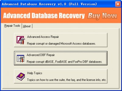 Advanced Database Recovery 1.0 screenshot