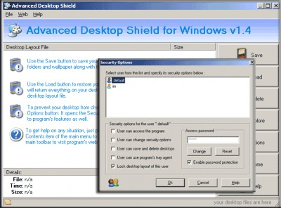 Advanced Desktop Shield 10.02 screenshot