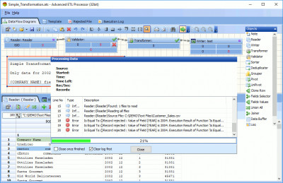Advanced ETL Processor 32 Bit 3.9.3.21 screenshot