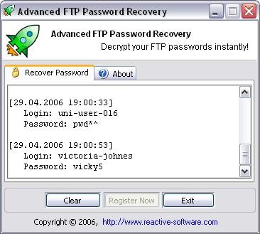 Advanced FTP Password Recovery 1.1.180.20 screenshot
