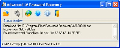 Advanced Instant Messengers Password Recovery 2.90 screenshot
