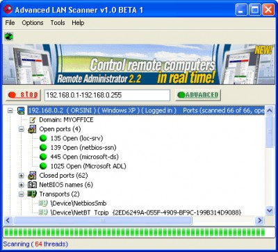 Advanced LAN Scanner 1.0 screenshot