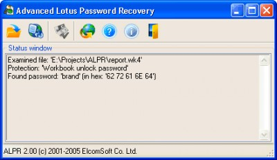 Advanced Lotus Password Recovery 2.0 screenshot