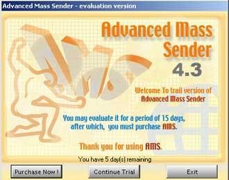 Advanced Mass Sender 4.3 screenshot
