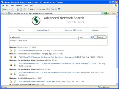 Advanced Network Search 2.5.2 screenshot