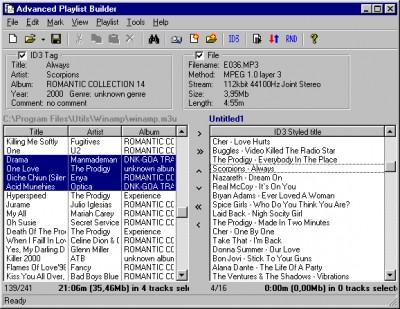 Advanced Playlist Builder 1.00 screenshot