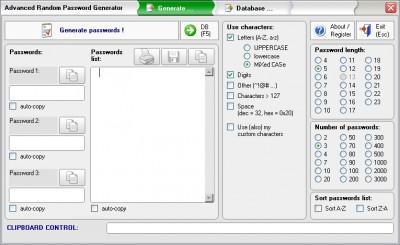 Advanced Random Password Generator 1.0 screenshot