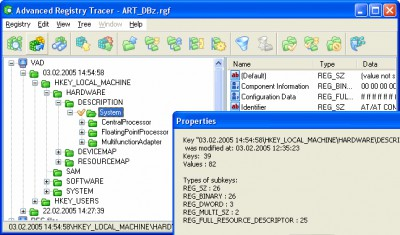 Advanced Registry Tracer 2.01 screenshot