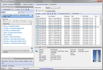 Advanced Renamer 3.77 screenshot