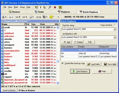 Advanced Replace Tools 4.3 screenshot