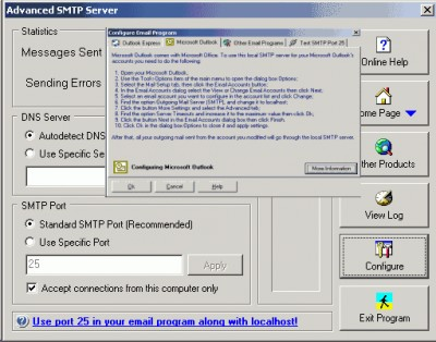 Advanced SMTP Server 5.263 screenshot