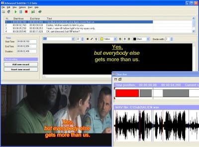 Advanced Subtitler 1.0b screenshot