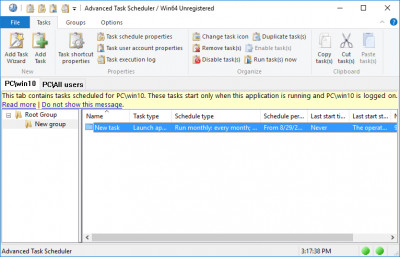 Advanced Task Scheduler 4.4.0.615 screenshot