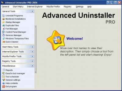 Advanced Uninstaller PRO 2005 7.1 screenshot