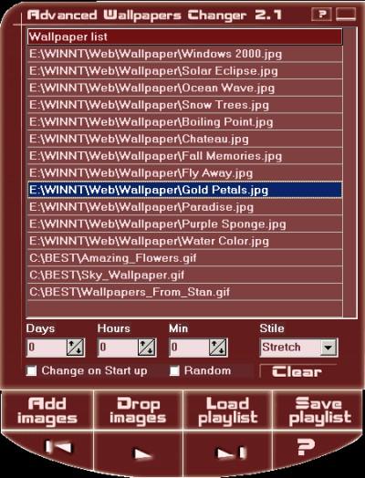 Advanced Wallpaper Changer 2.1 screenshot