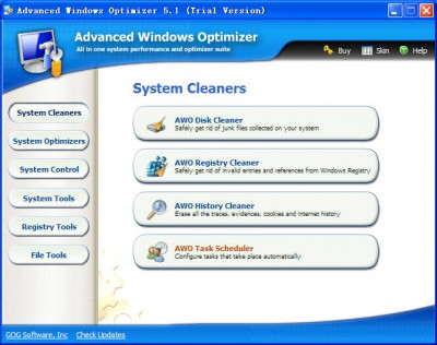 Advanced Windows Optimizer 6.81 screenshot