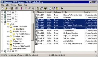 Advanced WMA Catalog 1.05xp screenshot