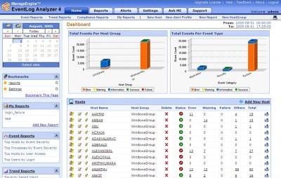 AdventNet EventLog Analyzer Free Edition 4.0 screenshot