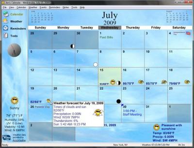 Aeris Calendar 2.1 screenshot