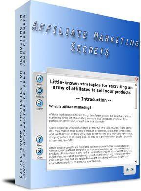 Affiliate Marketing Secrets 1.0 screenshot