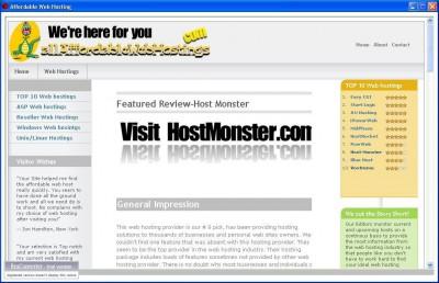 Affordable Web Hosting 2.1 screenshot