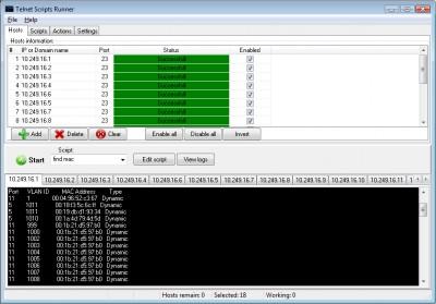 AgataSoft Telnet Scripts Runner 1.5 screenshot