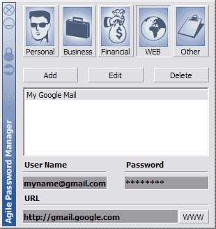Agile Password Manager 1.01 screenshot
