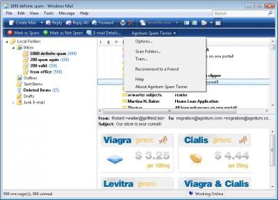 Agnitum Spam Terrier 2.0 screenshot