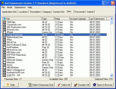 Aid Submission Genius 3.0 screenshot
