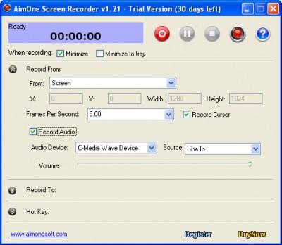 AimOne Screen Recorder 1.31 screenshot
