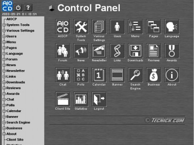 AIOCP (All In One Control Panel) 1.4.001 screenshot