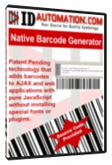 AJAX and JavaScript Barcode Generator 9.08 screenshot