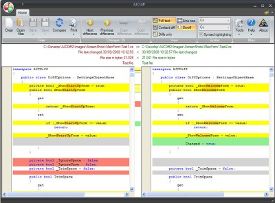 AJC Diff 2.2.0 screenshot