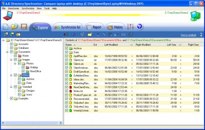 AJC Directory Synchronizer 2.9.0 screenshot