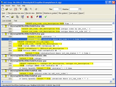 AJC Grep 1.4 screenshot