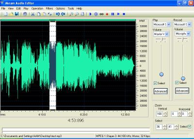 AKRAM Audio Editor 2.2.691 screenshot