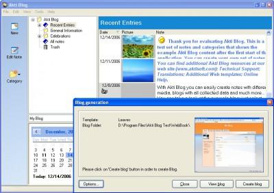 Akti Blog 1.5.80 screenshot