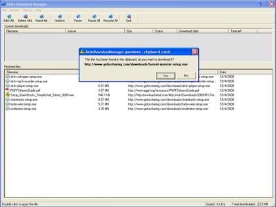 Aktiv Download Manager 5.3.0 screenshot