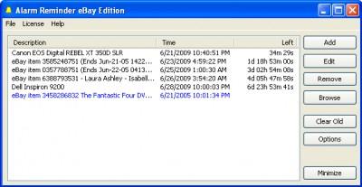 Alarm Reminder eBay Edition 2.0 screenshot