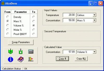 AlcoDens 2.5 screenshot