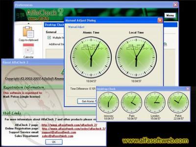 AlfaClock2 2.44 screenshot