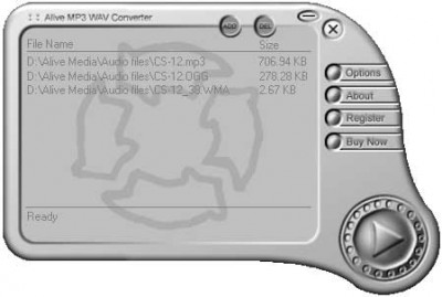 Alive MP3 WAV Converter 3.9.3.2 screenshot