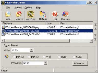 Alive Video Joiner 1.2.8.2 screenshot