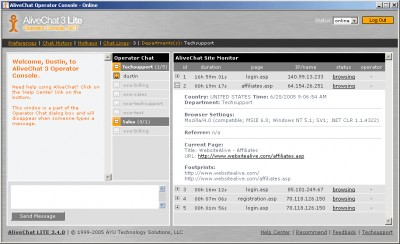 AliveChat 3.4.0 screenshot