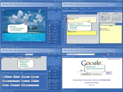 All-In-One Desktop Calendar Software 2021 screenshot